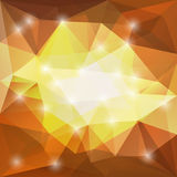 Brown and yellow triangle background Stock Photography