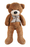 Brown zabawki niedźwiedź odizolowywający na bielu Obraz Royalty Free