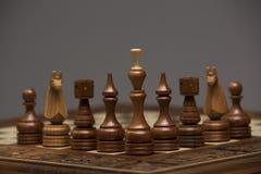 Brown-Zahlen auf Schachschreibtisch Lizenzfreie Stockfotografie