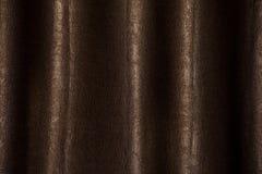 Brown zasłony tekstury tło w zmroku świetle zdjęcia royalty free