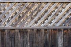 Brown-Zaun Texture Wall Stockfotografie