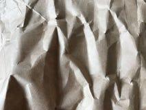 Brown zerknitterte Papier in den vollen Rahmenaussehung wie Felsen lizenzfreie stockbilder