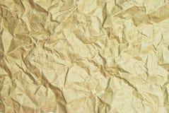 Brown zerknitterte Papierbeschaffenheit Lizenzfreies Stockfoto