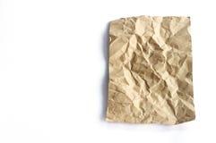 Brown zerknitterte Papierbeschaffenheit Stockbild