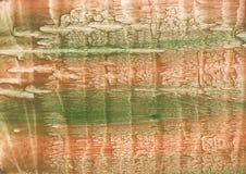 Brown zieleni akwareli zamazana tekstura Zdjęcia Stock