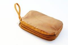 Brown zipper bag Stock Photography