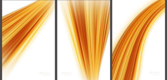 Brown-Zusammenfassungshintergrund-Spitzentechnologiesammlung Vektor Abbildung