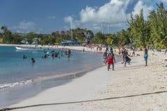 Browne的海滩巴巴多斯印度西部 免版税图库摄影