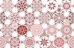 browne 有五颜六色的补缀品的无缝的陶瓷砖 在土耳其样式的葡萄酒多色样式 不尽的样式可以使用为 向量例证