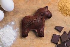 Browne chokladkaka arkivbilder
