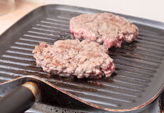 Browned burgers Stock Photos