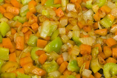 Browned vegetables Stock Photo