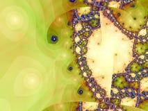 Browngrüner Fractal vektor abbildung