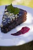 Browni-Kuchen Lizenzfreies Stockbild