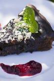 Browni-Kuchen Lizenzfreie Stockfotos