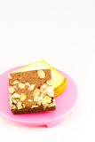 Brownie & βουτύρου κέικ Στοκ εικόνα με δικαίωμα ελεύθερης χρήσης