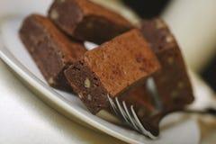 brownie γάλα σοκολάτας Στοκ Φωτογραφίες