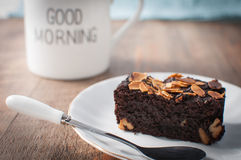 Brownie κέικ Στοκ εικόνα με δικαίωμα ελεύθερης χρήσης