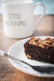 Brownie κέικ Στοκ φωτογραφίες με δικαίωμα ελεύθερης χρήσης