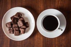 Brownie καφές μπισκότων Στοκ φωτογραφία με δικαίωμα ελεύθερης χρήσης