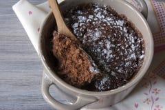 Brownie σε μια κούπα Στοκ Φωτογραφία