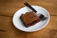 Brownie σοκολάτας κέικ Στοκ φωτογραφία με δικαίωμα ελεύθερης χρήσης