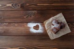 Brownie σοκολάτας κινηματογράφηση σε πρώτο πλάνο Στοκ Εικόνες