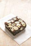 Brownie σοκολάτας με το αμύγδαλο Στοκ εικόνα με δικαίωμα ελεύθερης χρήσης