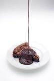 Brownie σοκολάτας με το σιρόπι 2 σοκολάτας Στοκ εικόνα με δικαίωμα ελεύθερης χρήσης