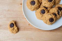Brownie σοκολάτας μπισκότο Στοκ Εικόνα