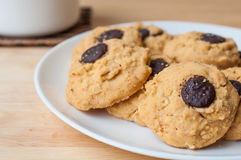 Brownie σοκολάτας μπισκότο Στοκ φωτογραφία με δικαίωμα ελεύθερης χρήσης