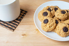 Brownie σοκολάτας μπισκότο Στοκ Εικόνες