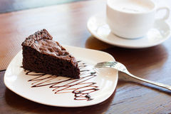Brownie σοκολάτας Στοκ φωτογραφία με δικαίωμα ελεύθερης χρήσης