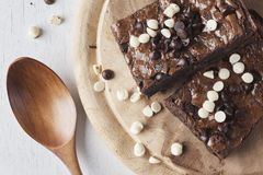 Brownie σοκολάτας Στοκ εικόνα με δικαίωμα ελεύθερης χρήσης
