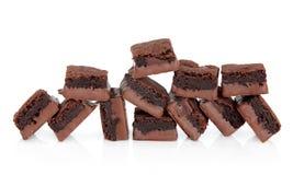 brownie συσσωματώνει τη σοκολάτα Στοκ φωτογραφία με δικαίωμα ελεύθερης χρήσης