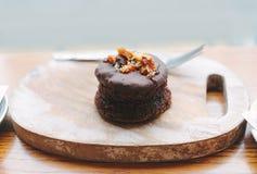 Brownie agradável do chocolate Imagens de Stock Royalty Free