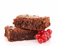 Brownie aislado Imagen de archivo libre de regalías