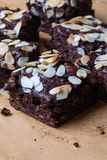 Brownie with almond Stock Image