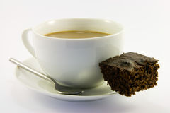 Brownie And Tea Stock Photography