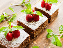 Brownie with berries Royalty Free Stock Photography