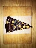 Brownie cacke chocolade stock afbeeldingen