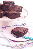 Brownie cake Stock Photos