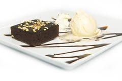 Brownie Cake Foto de archivo libre de regalías