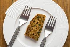 Brownie Cake Arkivfoto