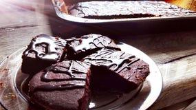 Brownie Cake Imagen de archivo libre de regalías