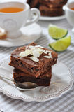 Brownie cake Stock Image