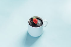 Brownie cake in a mug Stock Photography