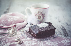Brownie cake vintage style Stock Images
