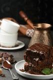 Brownie casalingo delizioso Immagini Stock Libere da Diritti