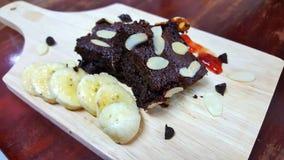 Brownie caseiro Fotografia de Stock